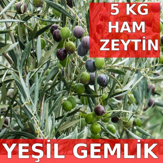 5 kg Gemlik Cinsi Ham Yeşil Zeytin