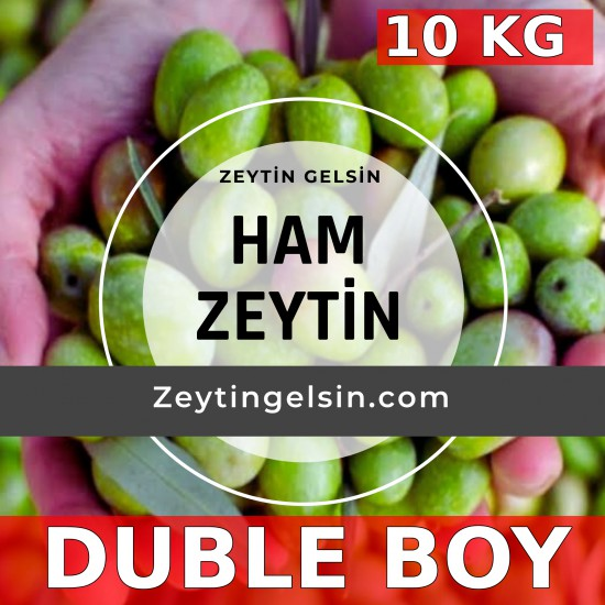 10 kg Ham Domat cinsi Yeşil Zeytin (Taze, Çiğ ) DUBLE BOY
